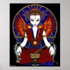 """Solara"" Sun Goddess Fire Angel Poster"