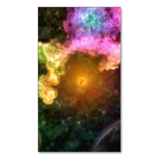 SOLARED SYSTEM (outer space planetary art) ~.jpg Magnetic Business Cards