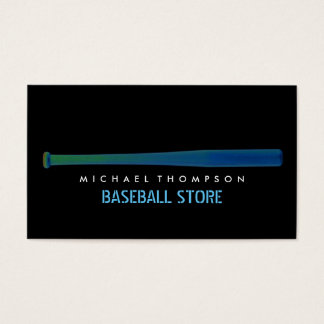 Solarize Effect Baseball Bat, Baseball Business Card