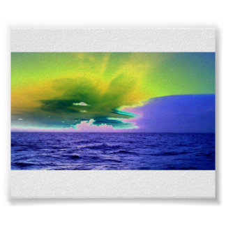 Solarized Ocean Picture Poster