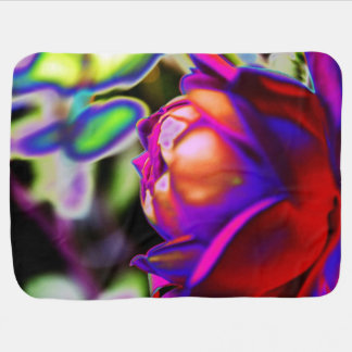Solarized Rose by Shirley Taylor Baby Blanket
