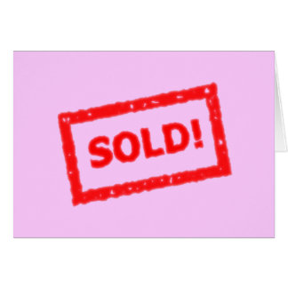Sold! Greeting Card