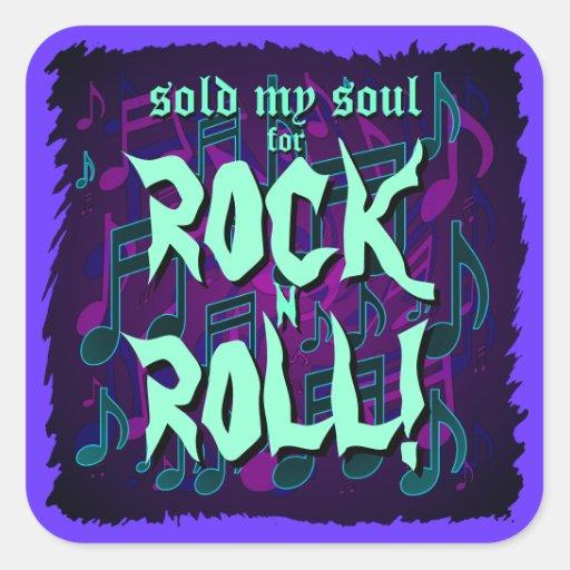 Sold My Soul for Rock n Roll Blue Green Purple Sticker