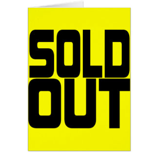 SOLD OUT CARD