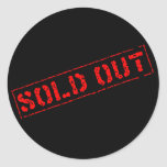 Sold Out Round Sticker