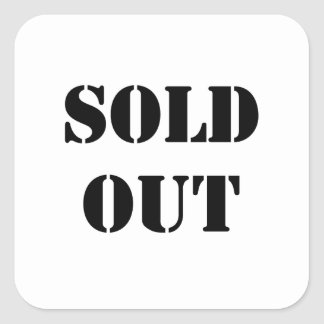 Sold Out Square Sticker