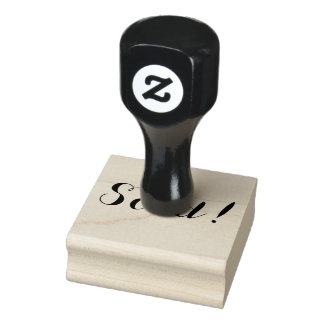 Sold. Rubber stamp. Rubber Stamp