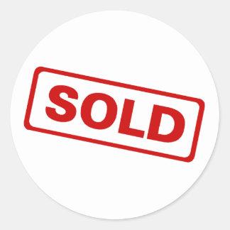 Sold Sign Round Sticker