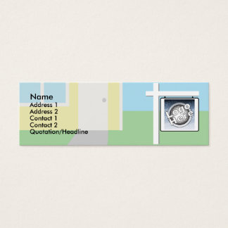Sold - Skinny Mini Business Card