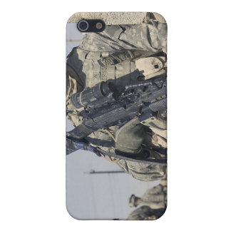 Soldier armed with a MK-48 iPhone 5 Cases
