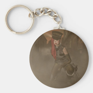 Soldier Basic Round Button Key Ring