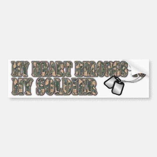 soldier bumper sticker