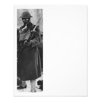"""Soldier by Crumbling Doorway 4.5"""" X 5.6"""" Flyer"""