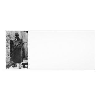 Soldier by Crumbling Doorway Rack Card