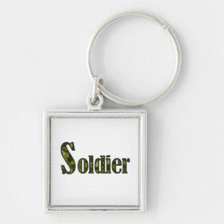 Soldier camouflage keychain