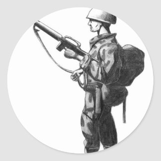 Soldier Classic Round Sticker