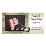 Soldier Daddy Birthday Customisable Customised Photo Card