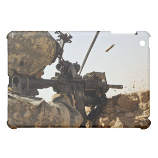 soldier engages enemy forces iPad mini cases