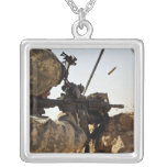 soldier engages enemy forces silver plated necklace
