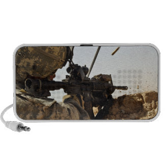 soldier engages enemy forces iPhone speakers