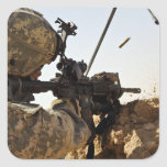 soldier engages enemy forces square sticker