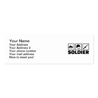 Soldier equipment pack of skinny business cards