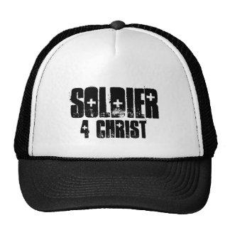 soldier for christ trucker hat