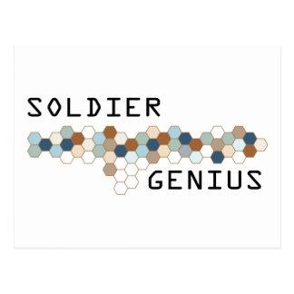 Soldier Genius Postcard