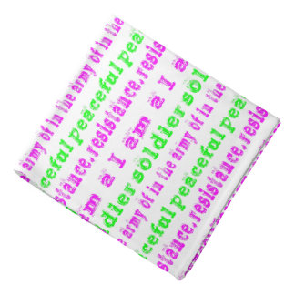 Soldier in Army Peaceful Resistance Bandana