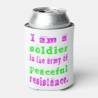 Soldier in Army Peaceful Resistance Can Cooler