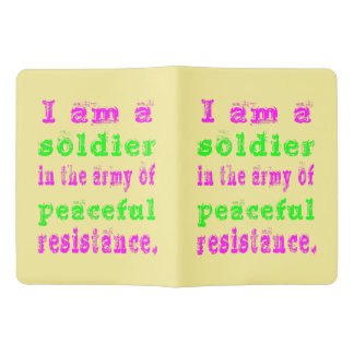 Soldier in Army Peaceful Resistance Extra Large Moleskine Notebook