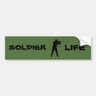 Soldier life bumper sticker