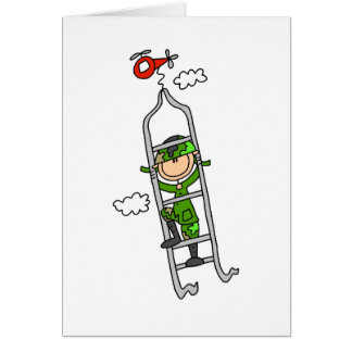 Soldier Maneuvers  Greeting Card