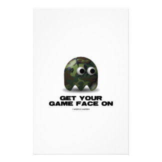 Soldier (Military Camouflage Retro Avatar) Stationery Paper