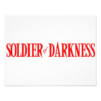 Soldier of Darkness Personalized Invitations