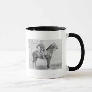 Soldier on His Horse in South Dakota Photograph Mug