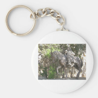 Soldier on horse key chain