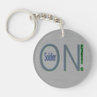 Soldier-On Single-Sided Round Acrylic Key Ring