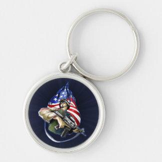 Soldier on the Watch Design Keychains