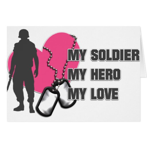 Soldier Pink Heart Card