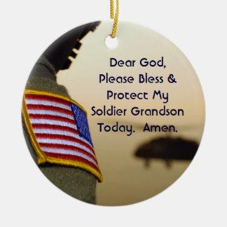 Soldier Prayer Ornament Grandson