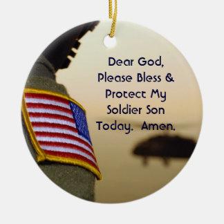 Soldier Prayer Ornament Son