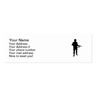 Soldier rifle Double-Sided mini business cards (Pack of 20)