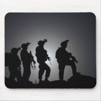 Soldier s Silhouette 1 Mouse Pad