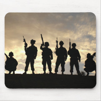 Soldier s Silhouette 20 Mouse Pad