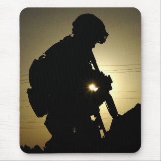Soldier s Silhouette 3 Mouse Pad