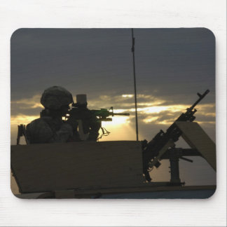 Soldier s Silhouette 8 Mousepad