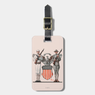 Soldier, Sailor and U.S. Shield Luggage Tag