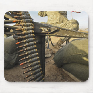 soldier scouts for enemy activity mouse mat