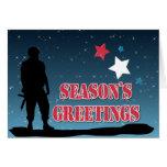Soldier Season's Greetings Greeting Card